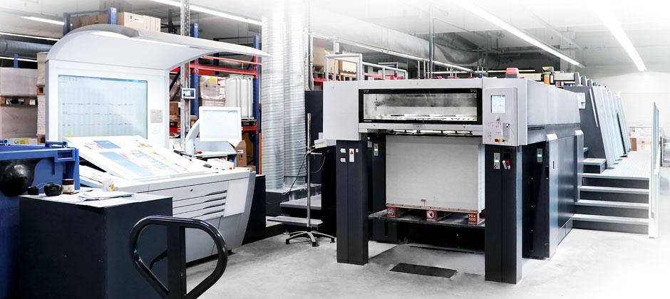 Druckraum mit Druckmaschine