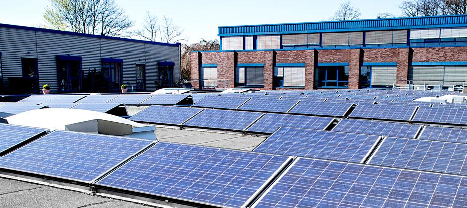 Solaranlage der Druckerei