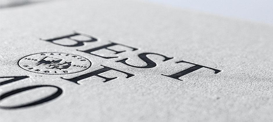 Geprägtes Buchcover Letterpress