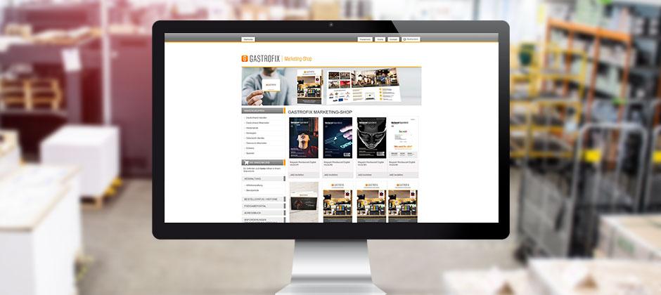 Bildschirm mit Web-2-Print-Shop