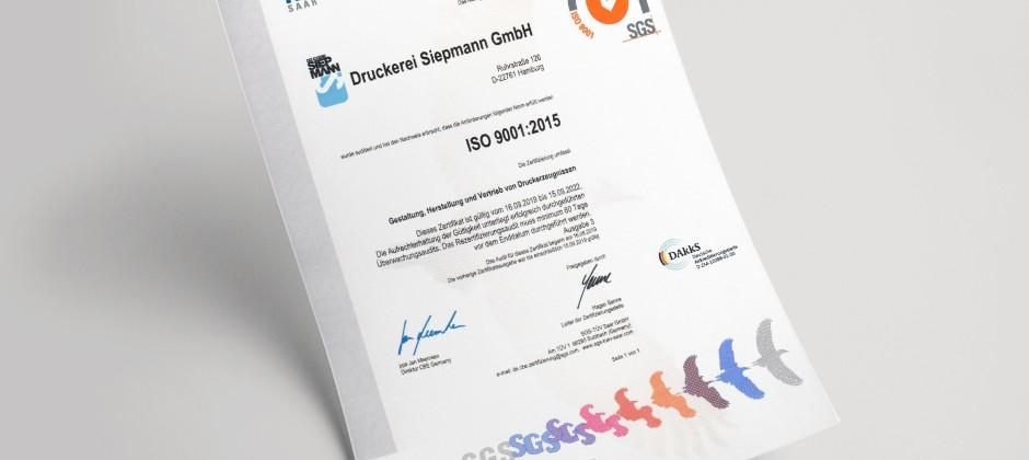 Pharmadruck zertifiziert nach ISO 9001: Geprüfte Qualität seit 70 Jahren